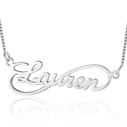 Cursive infinity name necklace