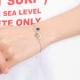 Bracelet infnité duo coeurs argent sterling