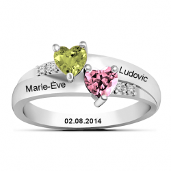Bague amour couple OR