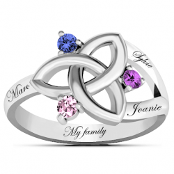Celtic family ring
