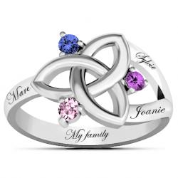 Celtic family ring