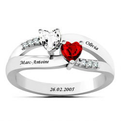 Heart love ring