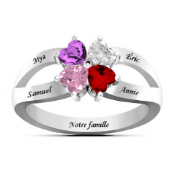 Interlaced hearts ring