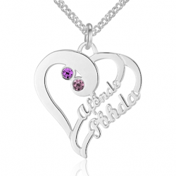 Stylish heart name necklace