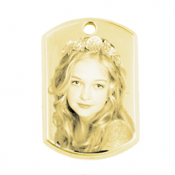 Little dog tag 3D gold