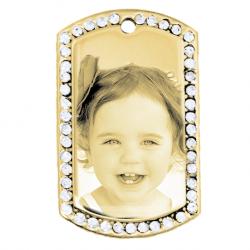 Petite plaque orné de pierres or
