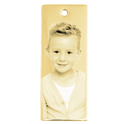 Little stylish dog tag gold