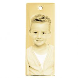 Petite plaque stylée or